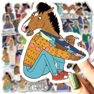 50 шт., наклейки с героями мультфильмов BoJack Horseman, водонепроницаемая виниловая наклейка на шлем для ноутбука, велосипеда, багажа, гитары, автом...