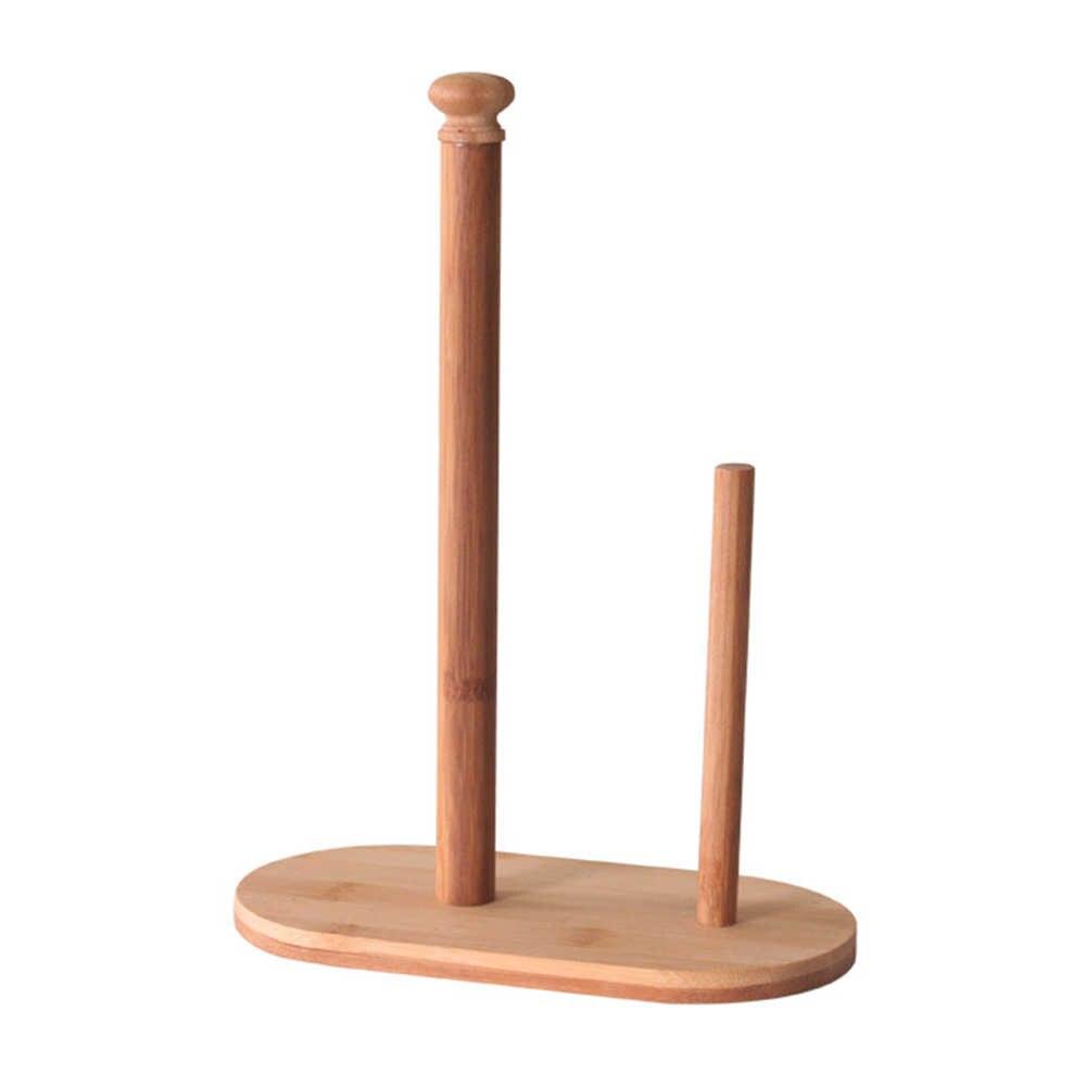 Натуральный Бамбук стенд Диспенсер держатель счетчик ткани полотенца хранения