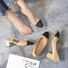 Luxury Brand Summer Hot Sell Sandals Genuine Leather Lace-up Fashion Style Sandals Ladies Shoes Square Heels Round Toe Size 34-4 black leather look lace up ladies heeled sandals