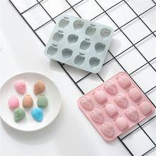 12 Сетки фруктовая Форма силиконовая форма для шоколадного фондана