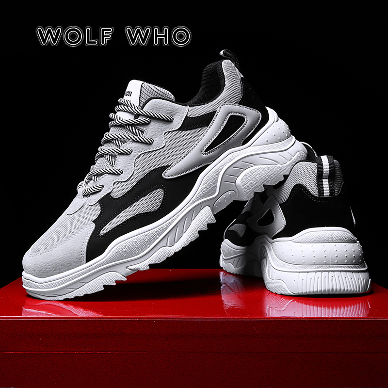 WOLF WHO Spring Vintage Sneakers Men Breathable Mesh Casual Shoes Male Comfortable Fashion Tenis Masculino Adulto Sneakers A-012