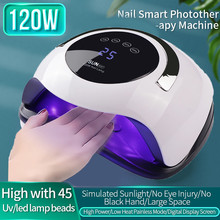 LED UV 120W Nail Dryer Curing Gel Polish Lamp Light Curing Manicure Machine Nail drying Gel varnish 10/30/60 / 99s timer sensor new curing gel polish nail dryer 48w sun uv led lamps nail polish dryer light auto motion drier curing gel timer manicure hb88