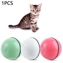 Pet LED Glowing Ball Movement Automatic Electric Toy USB Charging Dog Cat Kitten Playing Laser Funny