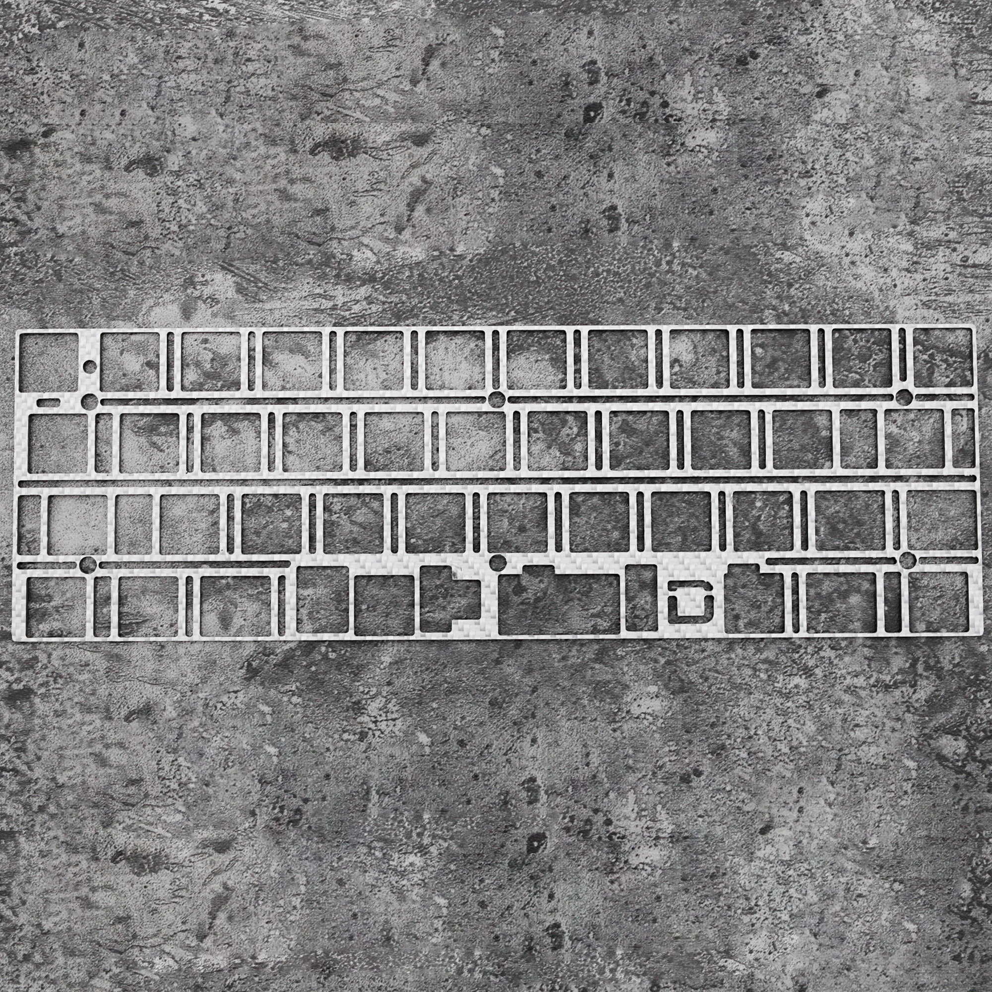 Carbon Fiber Plate For Daisy 40% Custom Keyboard Mechanical Keyboard Plate Support Daisy 40 Alps Or Mx Edition