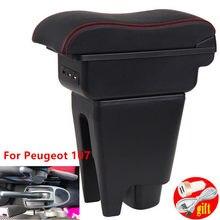 Подлокотник для Peugeot 107, Citroen C1, Toyota Aygo, BJ, центральный контейнер для хранения, декор для стайлинга автомобиля с подстаканником, USB