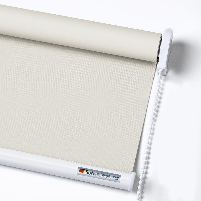 Sunfree 100% Polyester Manual Roller Blinds Light Transmission And Blackout Curtains Custom Size Roller Blinds Drilling System