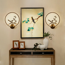 Chinese Japanese Vintage Wall Lamp Iron Classic Bird Angel Applique Murale Antique Decorative Indoor Wall Led Light Home Parlor