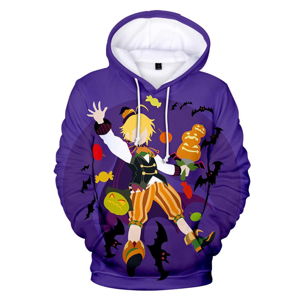 Hot koop Comic De Zeven Hoofdzonden meliodas 3D Hoodies sweatshirt in jongens/meisjes mode warme trui Harajuku herfst warm top