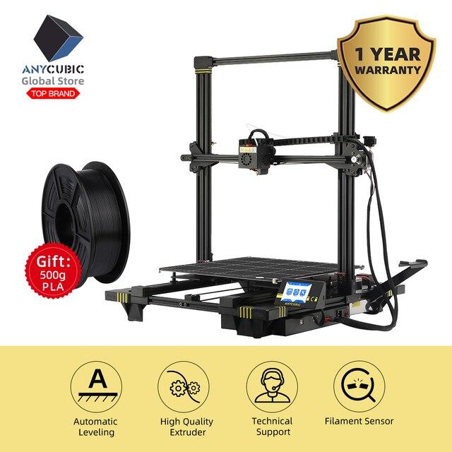 Imprimante 3D anycubique anycubique Chiron 400*400*450mm Plus grande taille dimpression 2019 imprimante 3D Kits de bricolage dimpression FDM TFT impresora 3d
