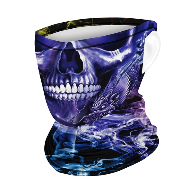 Riding Hood Digital Printed Outdoor Sunscreen Cool Ice Silk Breathable Mask Cool Hanging Ear Scarf Quick-Drying