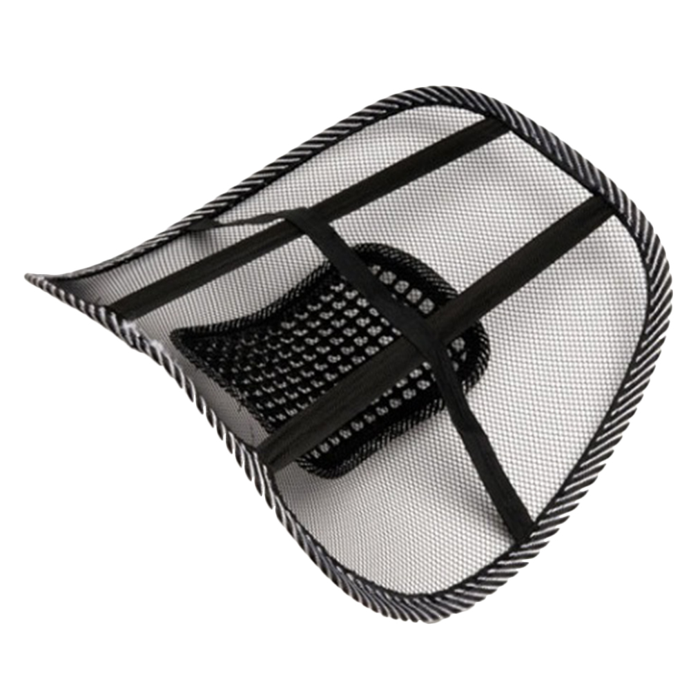 Car Seat Office Chair Massage Back Lumbar Support Mesh Ventilate Cushion Pad 46*39cm