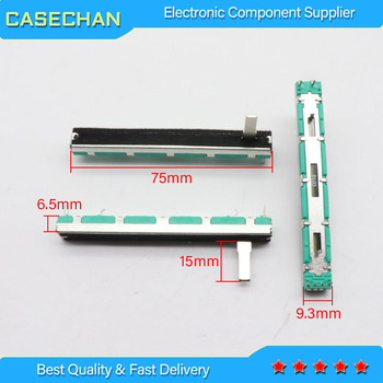 12 8 cm long track with a switch associated with a single fader slide potentiometers a10k 8t handle 5pcs 75MM D103 + 5pcs fader cap fader for BEHRINGER Mixer 1204FX / Straight Slide Strap Potentiometer D10K Handle Length 15MMC