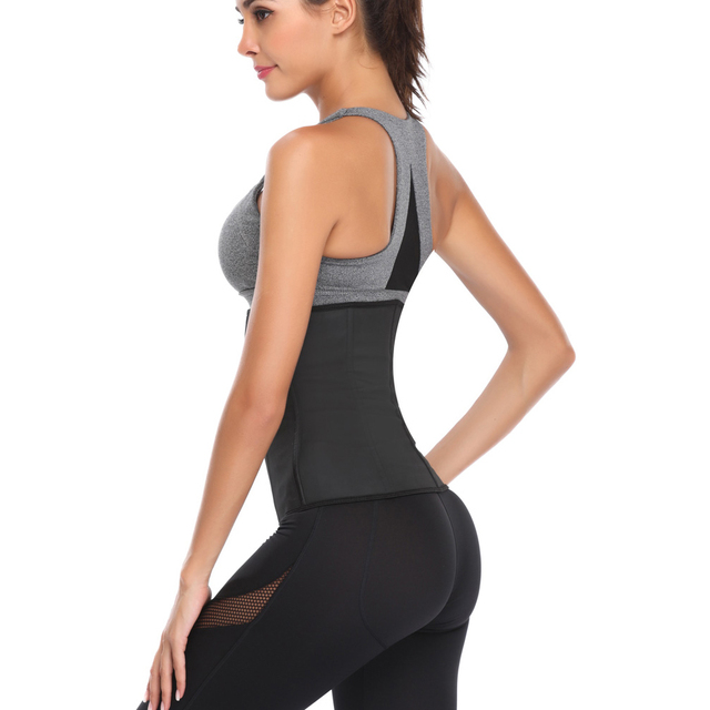 Wipalo Plus Size S-6XL Waist Trainer Women Body Shaper Cincher Slimming Corset Shapewear Trimmer Workout Thermo Tummy Control 3
