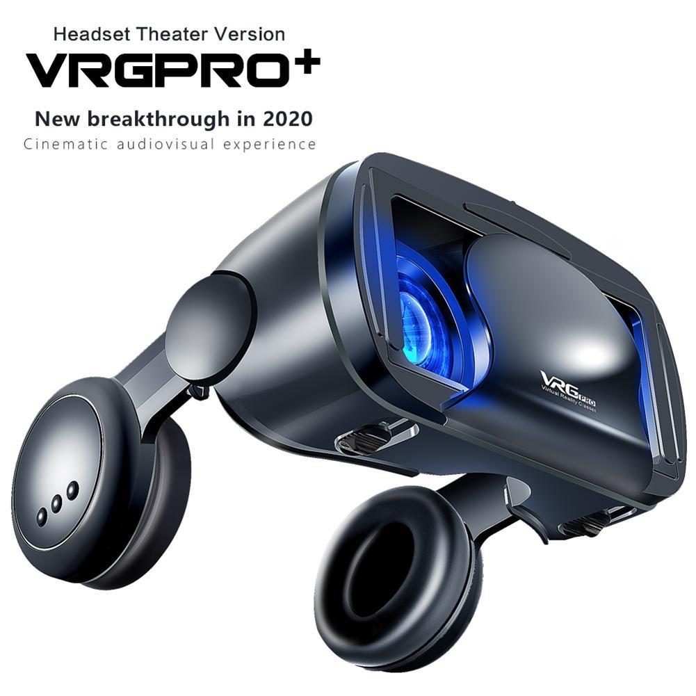 Venda quente! Vrg pro vr gglasses realidade virtual óculos 3d tela cheia visual grande-angular vr óculos para 5 a 7 polegada smartphones