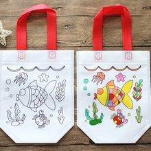 Антистресс Развивающие игрушки для детей Пазлы DIY Защита окружающей среды сумка с граффити детская ручная картина-раскраска Рисование Горячая