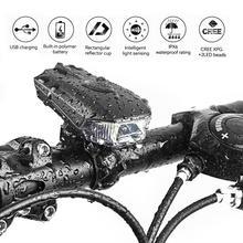 Передний велосипедный светильник USB Перезаряжаемый Водонепроницаемый светодиодный фонарь для велосипеда велосипедный головной светильник для скалолазания безопасный светильник-вспышка