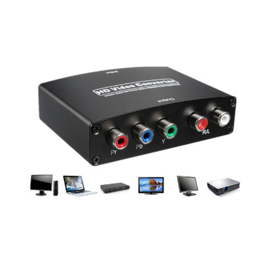 1080P HDMI to RGB Component 5 RCA YPbPr Video and R L audio Adapter Converter