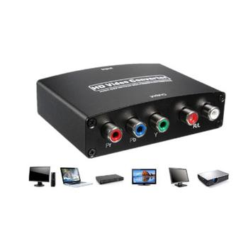 1080P HDMI to RGB Component 5 RCA YPbPr Video and R/L audio Adapter Converter