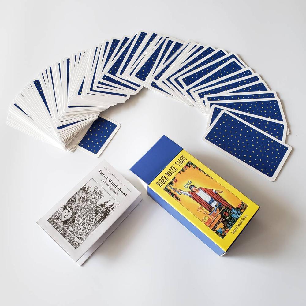 Новая испанская английская версия Райдер ожидание Таро колода гадания fate игральные карты, настольные game испанский гадания