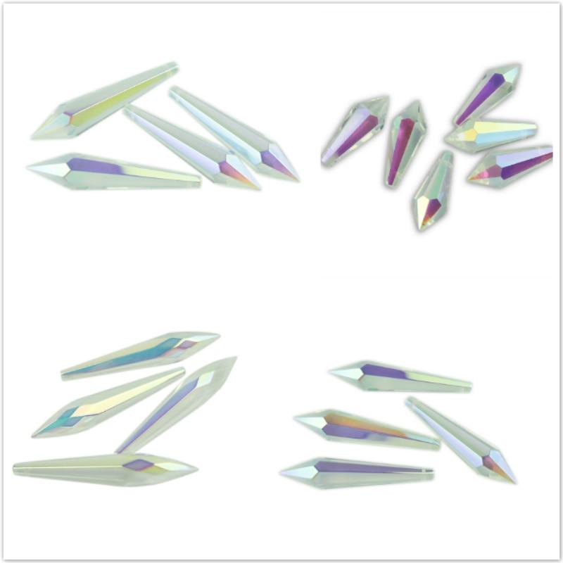38mm / 63mm / 76mm AB Crystal Icicle U Damla Kristal Çilçıraq - İşıqlandırma aksesuarları - Fotoqrafiya 1