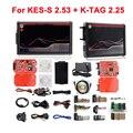 ForKESS V5.017 EU Red V2.47/V2.53 ECM Titanium ForKTAG V7.020 4 светодиодный Online Master Version ECU OBD2 автомобиль/грузовик, программатор