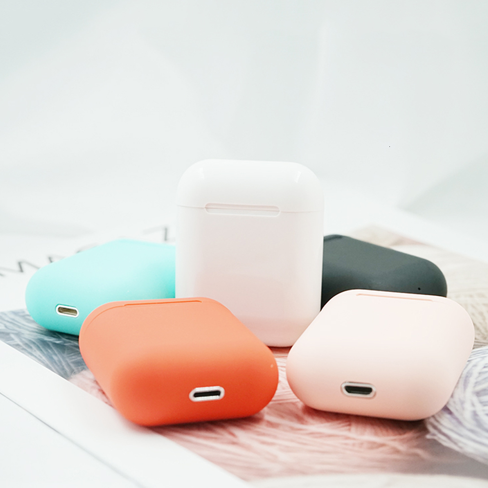Color <font><b>I12</b></font> <font><b>TWS</b></font> Wireless <font><b>Bluetooth</b></font> Earphones <font><b>Bluetooth</b></font> <font><b>5.0</b></font> Headphones Wireless Headset Sports Touch Control Mini Earphone <font><b>Earbuds</b></font> image