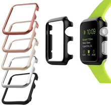 Aluminum metal frame bumper Anti-fall Case for apple watch protector 42mm 38mm  accessories iwatch series 3 2 1