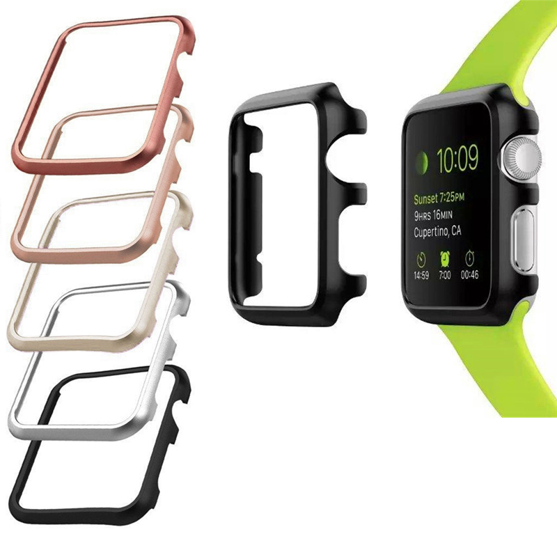 Aluminum metal frame bumper Anti-fall Case for apple watch protector 42mm 38mm apple watch accessories for iwatch series 3 2 1