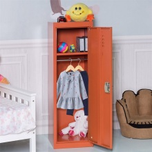 48 Kid Safe Storage Cabinet Room Organizer Children Closet Shelf Single Tier Metal Locker HW56202