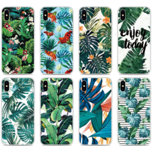 TPU Soft Silicone Tropical Leaf Phone Case For OPPO Find X2 Pro A9 A8 A5 A31 2020 A91 AX5S Realme 5 6 X50 Reno A 3 Pro Cover tpu soft silicone sailor moon phone case for oppo find x2 pro a9 a8 a5 a31 2020 a91 ax5s realme 5 6 x50 reno a 3 pro back cover
