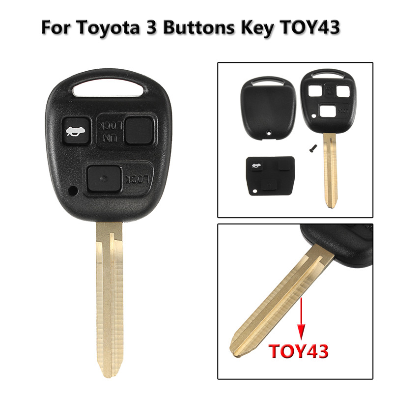 3 <font><b>Buttons</b></font> Car <font><b>Remote</b></font> <font><b>Key</b></font> Case Fob Cover <font><b>Button</b></font> <font><b>Key</b></font> Case For <font><b>Toyota</b></font> <font><b>Avensis</b></font> Corolla Yaris Rav4 image