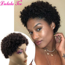 Short Curly Human Hair Wigs For Black Women Short Pixie Cut Wig Brazilian Remy Hair Spiral Curl Soft Cheap Wig Free Shipping