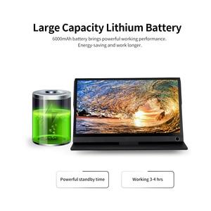 Image 4 - Przenośny Monitor 12.5 Monitor LED HD 1080P ekran rozszerzający do przełącznika/PS4/PC/laptopa (z ekranem dotykowym/wtyczką amerykańską baterii)