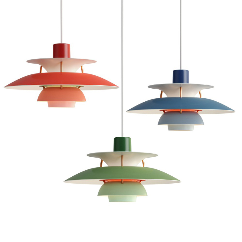 Modern PH5 Pendant Lights Colorful Umbrella Led Suspend Lamp For Living Room Kitchen Dining Room Restaurant Lighting Fixtures