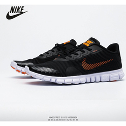 Original Nike Free Rn Flyknit Nike Barefoot 3.0 Large Hole Breathable Women's Mesh Sports Running Shoes Size 36-39 Air Max Low