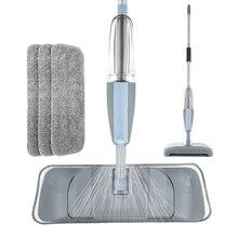 Paspas 3 in 1 sprey paspas ve libero süpürge sert zemin düz temizleme aracı seti ev için el düzenlenen kullanımı kolay paspas