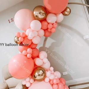 Image 2 - باستيل بالون جارلاند قوس قزح معكرون المرجان الأحمر الخوخ طقم داي الاطفال حفلة عيد ميلاد بالونات المنزل حفل زفاف ديكور بالونات
