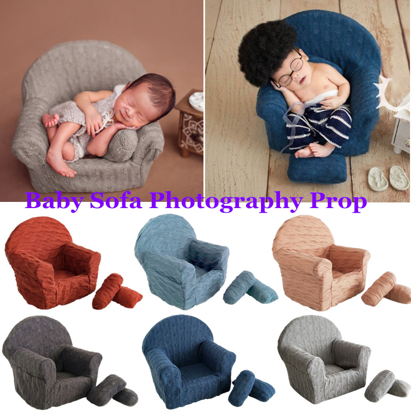 3 Pcs/set Newborn Baby Posing Mini Sofa Arm Chair Pillows Infants Photography Props Poser Photo Accessories