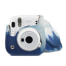 Anti drop Retro Shoulder Camera Bag Handbags For Fujifilm Instax Polaroid Mini 11 8 9 Mini11 PU Leather Carrying Camera Case