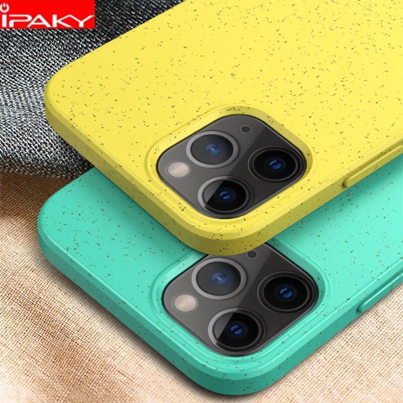 Чехол IPAKY для iPhone 12, мягкий чехол из жидкого силикона для iPhone 12 Pro, мини гелевый ударопрочный чехол для iPhone 12 Pro Max, чехол