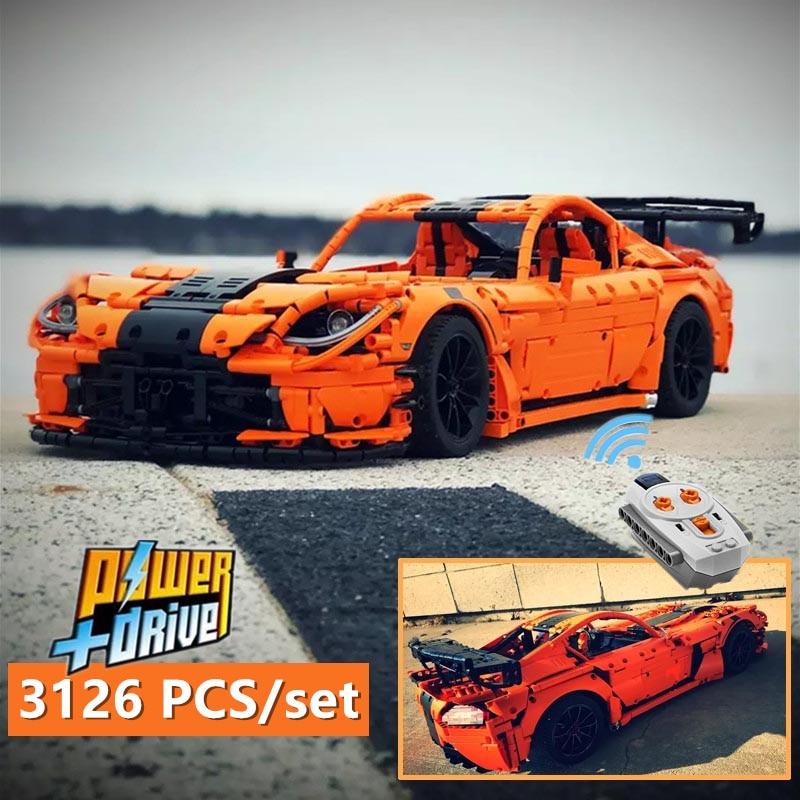 Nova Tecnologia Série Viper ACR MOC-13655 dupla monstro carro esporte a motor Blocos Tijolos brinquedo diy Presente de aniversário de natal