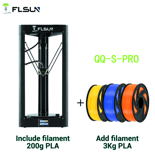 FLSUN QQ S PRO 3D מדפסת במהירות גבוהה גדול הדפסת גודל 255*360mm kossel דלתא 3d Printer אוטומטי פילוס מגע מסך
