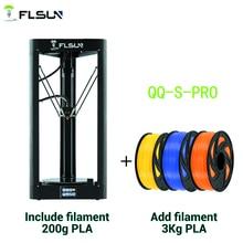 FLSUN QQ S PRO 3D Drucker Hohe geschwindigkeit Große Druck Größe 255*360mm kossel Delta 3d Printer Auto leveling touch bildschirm