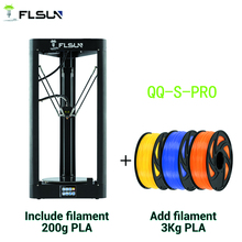 FLSUN QQ S PRO 3D принтер высокая скорость Большая печать размер 255*360 мм kossel Delta 3D принтер с автоматическим выравниванием сенсорный экран