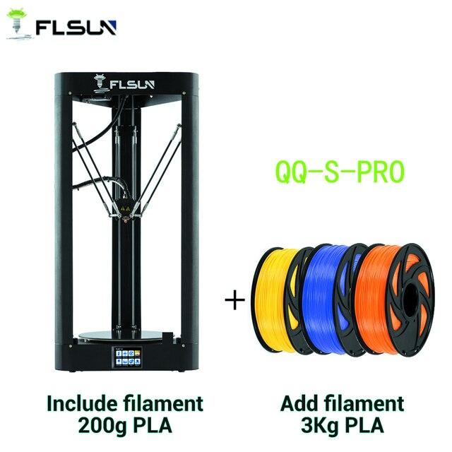 Flsun QQ S PRO 3Dプリンタ高速大型印刷サイズ255*360ミリメートルkosselデルタ3d Printerオートレベリングタッチ画面