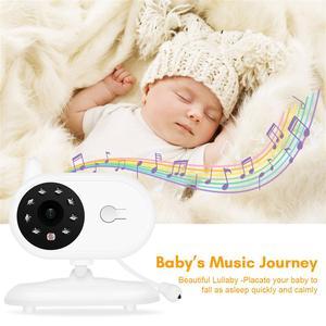 Image 4 - บันทึกเสียงทารกเด็กไร้สาย 3.5 นิ้วหน้าจอ LCD Audio Video Baby Monitor วิทยุพี่เลี้ยงเพลง Intercom บันทึกเสียงทารกกล้อง US Plug