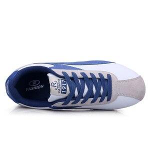 Image 2 - Leichte Turnschuhe für Männer Lace Up Casual Schuhe Mann Outdoor Wandern Männlichen Wohnungen Blau Grau Jogging Schuhe Trainer 8 8,5 9 9,5
