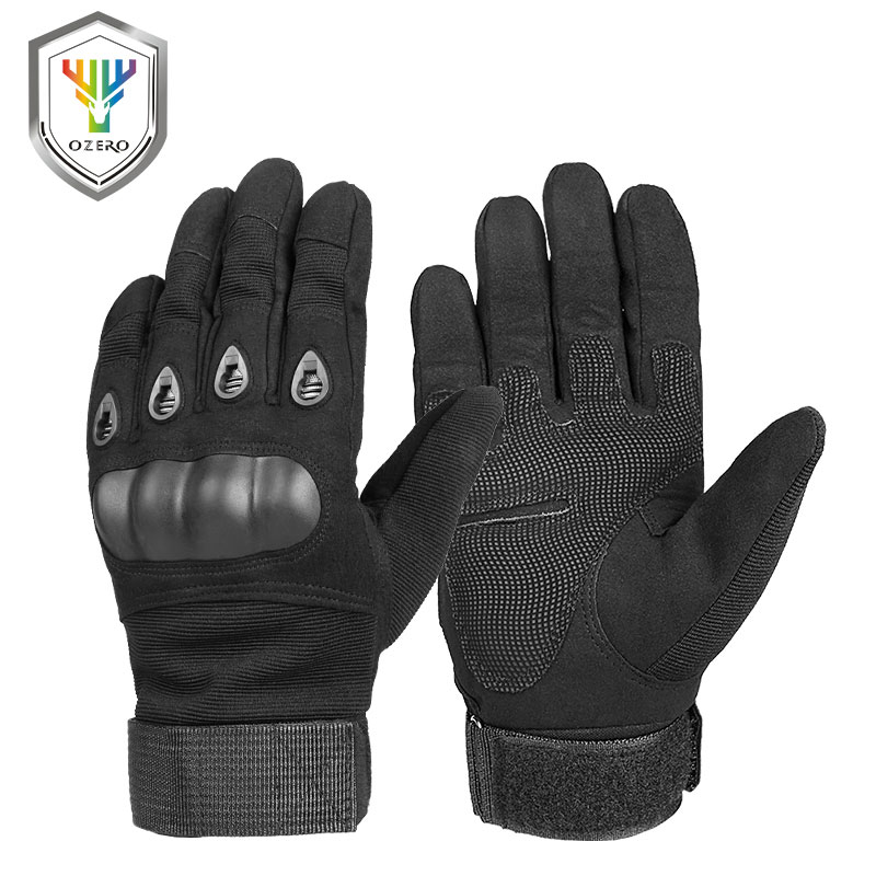 Motorcycle-Gloves Mechanical Biker Reinforced-Leather Racing-Car Riding Men Super-Fiber