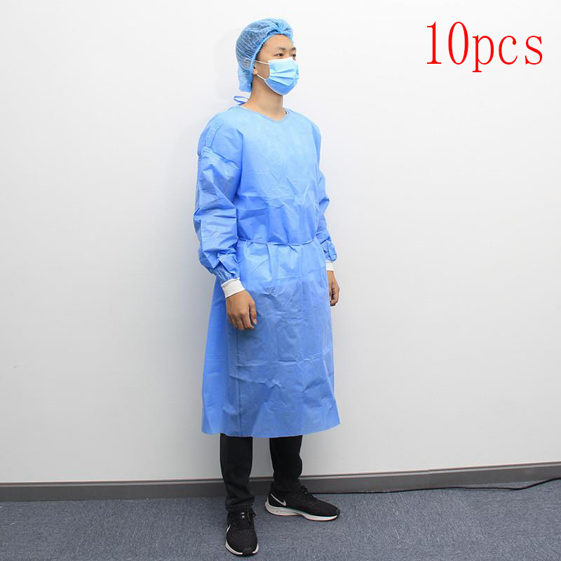 Disposable Surgical Gown 10pcs, Non-woven Lightweight Breathable Surgical Gown, Suitable For Hospitals And Clinics