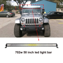 ECAHAYAKU 50 702W Tri-Row straight Curved LED Light Bar Off-road Work Combo Beam 4X4 4WD 12V 24V FOR JEEP ATV TRUCK boat